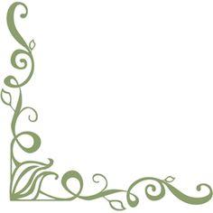 Silhouette Design Store - View Design #3327: corner flourish