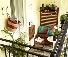 No balcony is too small for enjoying the outdoors.