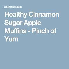 Healthy Cinnamon Sugar Apple Muffins - Pinch of Yum