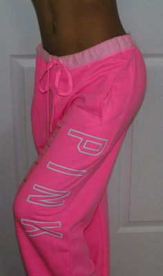 VICTORIAS SECRET NEON PINK PANTS♥ perfect for those fall or winter days when ya wanna curl up on the couch
