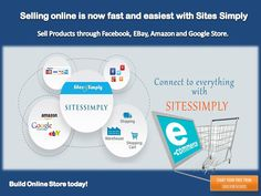 Advertise your products worldwide from a single platform with #sitessimply and reach potential customers through Facebook, Google, eBay,#amazonshop, etc.