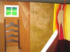 Owen Cappleman mixed media room divider. #architecture #UT #atx Tarrytown sale, Sept. 21-23