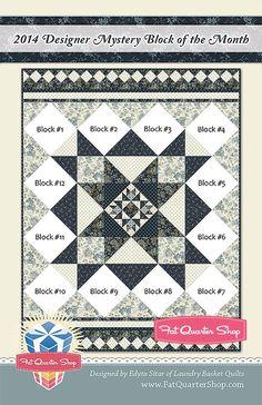 Finishing Pattern for 2014 Designer Mystery Block of the Month Fat Quarter Shop Block of the Month Program #2014DM | Fat Quarter Shop