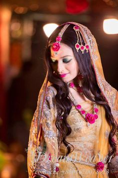 pearls and flowers for Mendhi Bangladesh#BengaliBride