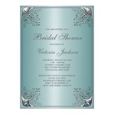 ShoppingPretty Teal Blue Bridal Shower InvitationIn our offer link above you will see