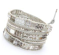 Filipa Wrap Bracelet-Silver by Nakamol - Nakamol Chicago