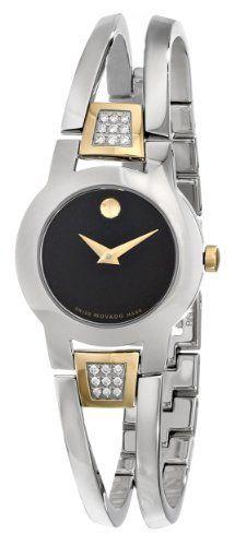 Movado Women's 604983 Amorosa Diamond Accented Bangle Bracelet Watch Bangle Bracelets, Bracelet Watch, Bangles, Fashion Watches, Michael Kors Watch, Movado Watches, Silver Watches, Diamond, Ladies Watches