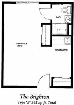 Studio Apartments 300 Square Feet Floor Plan photo - 8