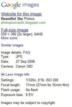 Cómo conocer la información EXIF de las fotos que almacena Google