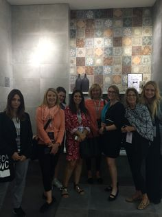 Touring a booth at #Cersaie2015.