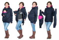 3 in 1 Kangaroo hoodie / jacket is made for carrying babies and toddlers depending on size and weight   BABY SLING OR CARRIER IS REQUIRED