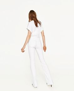 Image 5 of PREMIUM COLLECTION FLARED SKINNY FIT JEANS from Zara
