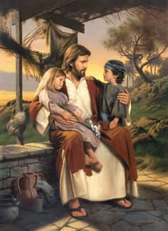 Pictures of Jesus with Children | Simon Dewey