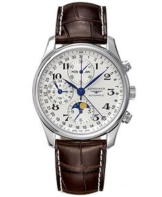 Longines Watch, The Master Collection Automatic Moon Phase Chronograph L26734783 - Watches - Jewelry & Watches - Macy's