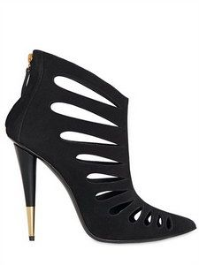 GIUSEPPE ZANOTTI - 110MM SUEDE CUTOUT POINTY BOOTS