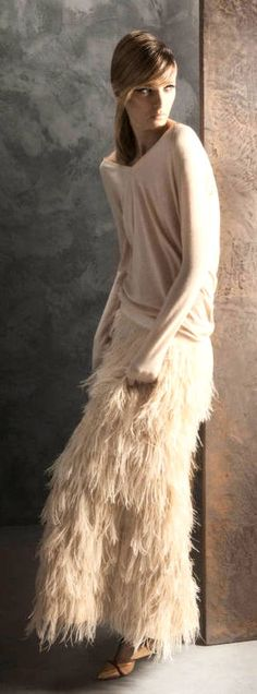 Massimo Dutti..pretty skirt & soft sweater
