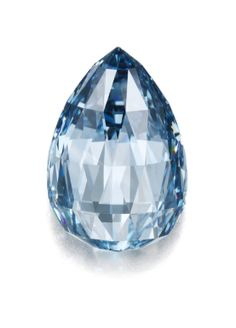 Fancy Deep Blue, Natural Colour, Flawless,  Briolette Diamond, 10.48 Carats... Sotheby's Magnificent Jewels auction held in Geneva, 11/14/2012. Est. $3,500,000 - $4,500,000.  This exceptionally rare fancy deep blue diamond actually sold for CHF 10,274,500 / $10,860,146 - a world record price per carat for a deep blue diamond and a world record price for a briolette diamond at auction.