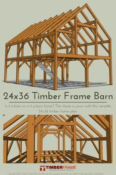Timber Frame Home Plans, Timber Frame Cabin, Pole Barn Homes, Diy Pole Barn, Barn Style Homes, Barn House Plans, A Frame House Plans, Slytherin, Planer