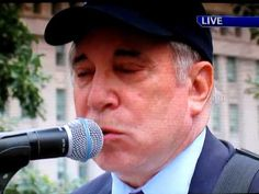 Paul Simon perform at the 9/11 Remembrance