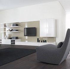 Mueble para TV Living Room Zones, Living Room Decor, Tv Furniture, Furniture Design, Living Room Built Ins, Muebles Living, Cabinet Design, Living Room Designs, Family Room