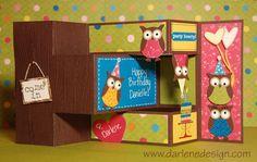 Birthday card idea...how cute!