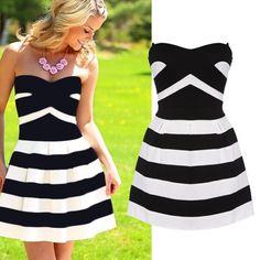 New Women letní šaty Sexy Fashion Lady šití mini šaty