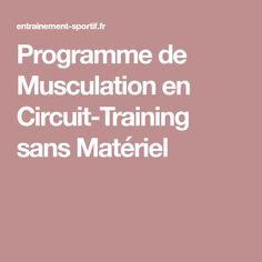 Programme de Musculation en Circuit-Training sans Matériel db7e26fbce9