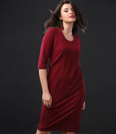 This season, wear red! YOKKO | fall-winter 2016 #red #dress #daytime #relaxed #fashion #style