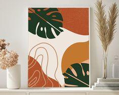 Leaf Art, Art Plastique, Acrylic Art, Botanical Prints, Diy Art, Wall Art Prints, Decoration, Modern Art, Art Projects