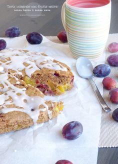 torta integrale con frutta estiva senza lattosio