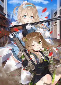 Suomi & Rfb drawn by Torino Manga Girl, Anime Wolf Girl, Anime Art Girl, Anime Military, Military Girl, Girls Characters, Anime Characters, Anime Chibi, Anime Manga