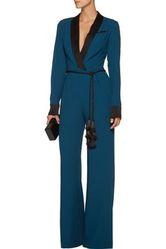Shop on-sale Rachel Zoe Lucida satin-trimmed crepe jumpsuit. Browse other discount designer Jumpsuits & more on The Most Fashionable Fashion Outlet, THE OUTNET.COM