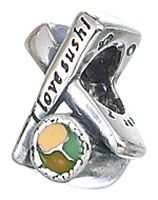 I Love Sushi! Sterling Silver Zable Bead Charm