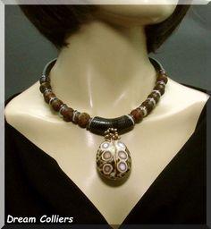 Muschel & Achate - extravagant von Dream-Colliers auf DaWanda.com