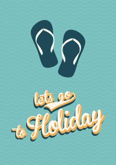 Summer Holiday - Retro Poster