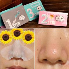 Holika Holika Pig Nose Mask Remove Blackhead Acne Remover Clear Black Head 3 Step Kit Beauty Clean Face Care Cosmetic