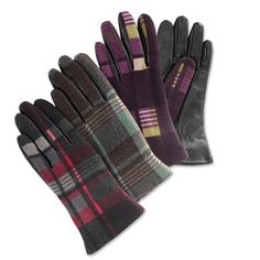 Leather Gloves for Women - Plaid Leather Tech-touch Glove -- Orvis on Orvis.com!