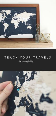 travel map Always dreaming, never traveling enough. Track your travels and dream up all those next adventures- The most beautiful and highest quality Push Pin Map you can find. Shop our handmade travel map collection now. World Map Travel Pins, World Map Pin Board, World Map With Pins, Usa Travel Map, Push Pin World Map, Travel Europe, Travel Packing, Framed World Map, Framed Maps
