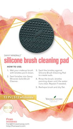 Young Living had an April 2019 Rally and launched several new products that you WON'T want to miss.. Take a look now while supplies last! Savvy Minerals Silicone Brush Cleaning Pad and so much more! WOW
