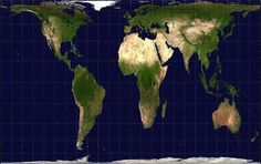 The Gall-Peters projection map keeps the land masses of continents proportional to how they actually appear in reality. Yes, South America, Africa and Australia really are that big. Buckminster Fuller, Teaching Geography, Physical Geography, What The World, The Real World, World History Map, Make A Map, How Did It Go, Classroom Images
