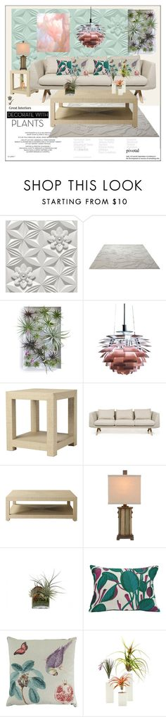 """Airplants and Organics"" by frenchfriesblackmg ❤ liked on Polyvore featuring interior, interiors, interior design, home, home decor, interior decorating, Graham & Brown, ESPRIT, Louis Poulsen and Serena & Lily"