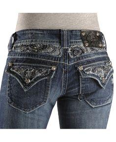 Miss Me Jeans #Miss_Me_Jeans #fashion #blue_jeans #love Miss Me Jeans Miss Me Jeans - Embellished Paisley Flap Pocket Jean