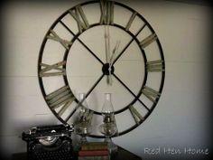 huge metal clock