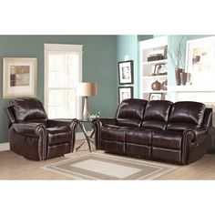 Reclining Leather Living Room Furniture Sets Accent Tables 2466 Best Sofas Images Family Abbyson Broadway Premium Top Grain Sofa And Armchair Red