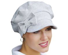 This paperboy hat offers a sophisticated spin on the classic baseball hat. Not your average ball cap, this one can go dressy or casual and has so much flair. Its so versatile! The decorative bow is removable and if youre crafty, you could even make your own bows to coordinate with all your outfits! Gifts For Cancer Patients, Decorative Bows, News Boy Hat, Hats For Women, New Look, Baseball Hats, Cap, Spin, Casual