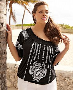 0966defb40d INC International Concepts Plus Size Top