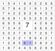 Mathe ist einfach: Zahlensuche 7