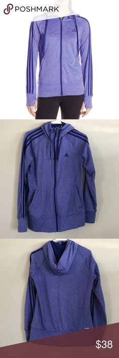 Adidas Hoodie Worn twice Adidas Women's Go To Fleece Full-Zip Hoodie. No rips or stains Excellent shape. Love the thumb holes. adidas Sweaters