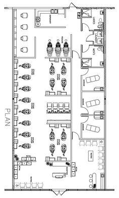 Beauty Salon Floor Plan Design Layout - 3200 Square Foot