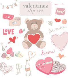 Hand-Drawn Valentines Day Clip Art  http://angiemakes.com/product/hand-drawn-valentines-day-clip-art-2/
